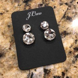 jcrew crystal earrings NWT